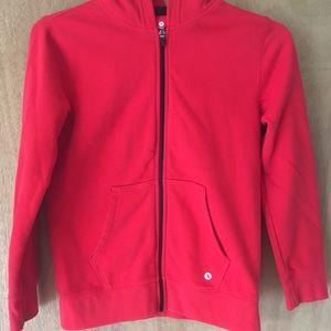Boys red zip up hoodie sweatshirt size 10/12.